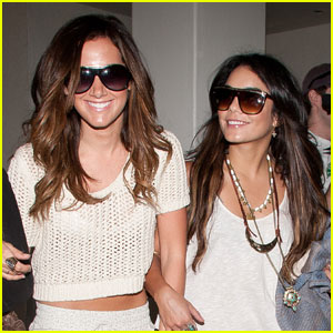 Vanessa Hudgens & Ashley Tisdale Land in L.A.