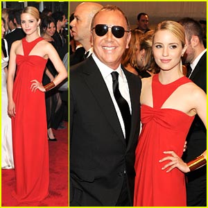 Dianna Agron: MET Ball 2011 with Michael Kors