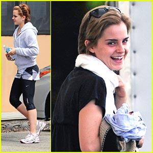 Emma Watson: Movie & Workout Weekend