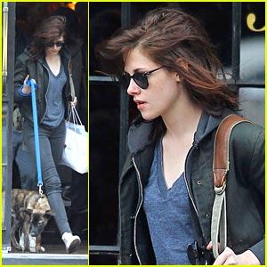 Kristen Stewart: East Village Walk with Dog