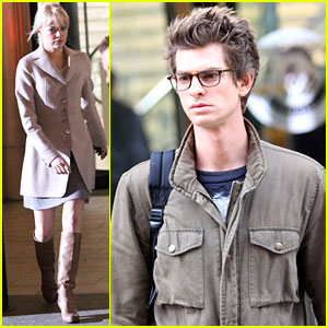 Emma Stone &#038; Andrew Garfield: Filming Spidey!