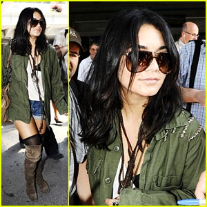 Vanessa Hudgens' Nice Arrival