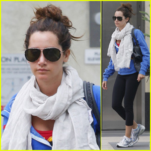 Ashley Tisdale: Blue Hoodie Beauty