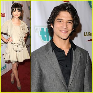 Crystal Reed & Tyler Posey Get Thirsty