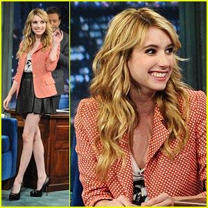 Emma Roberts: Friday Night with Jimmy Fallon!
