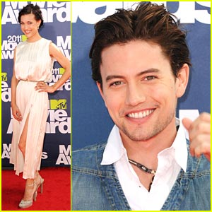 Jackson Rathbone: MTV Movie Awards with Julia Jones