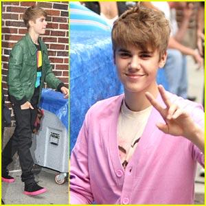 Justin Bieber: Top Ten on Letterman!