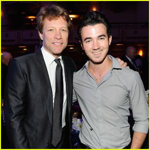 Kevin Jonas Meets Jon Bon Jovi!