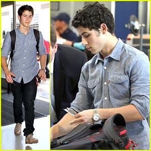 Nick Jonas: Taking Off Again...