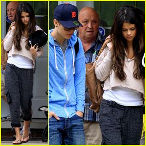Selena Gomez & Justin Bieber: To Grandparents' House We Go!