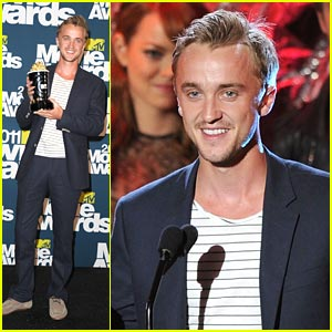 Tom Felton: Best Villian at MTV Movie Awards 2011!