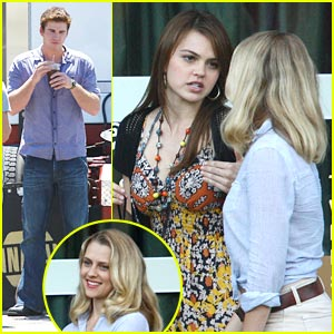 Aimee Teegarden: 'AWOL' Set with Liam Hemsworth