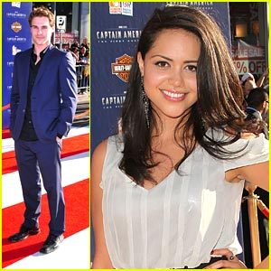 Grey Damon & Alyssa Diaz: 'Captain America' Premiere Pair!