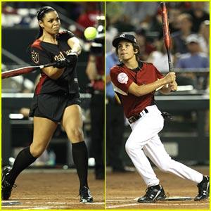 Jordin Sparks & Jake T. Austin: All Star Celebrity Baseball Game!