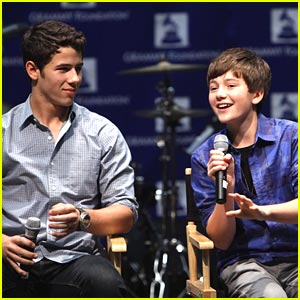 Nick Jonas & Greyson Chance Go To Grammy Camp