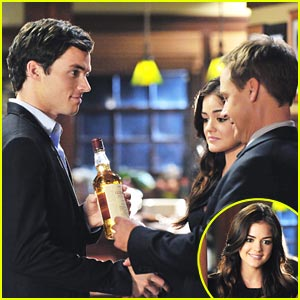 Lucy Hale: Love Triangle with Ian Harding & Drew Van Acker!