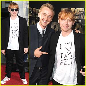 Rupert Grint Loves Tom Felton!