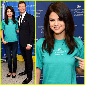 Selena Gomez Launches 'The Voice' at Children's Hospital