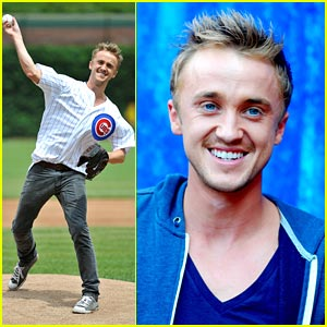 Tom Felton: Chicago Cubs Ceremonial Pitcher!