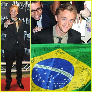 Tom Felton: Holding The Heartthrob Flag in Brazil!