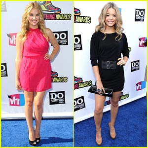 Ashley Benson & Sasha Pieterse -- Do Something Awards 2011