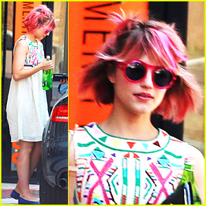 Dianna Agron: Pink Hair Pretty!