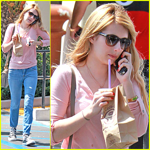 Emma Roberts: Coffee Bean Cutie!