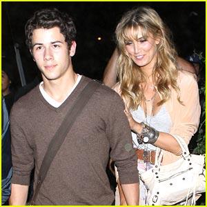 Nick Jonas & Delta Goodrem: Concert Going Couple