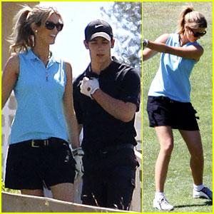 Nick Jonas: Golfing with Delta Goodrem!