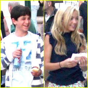 Peyton List Grabs Japadog in Vancouver