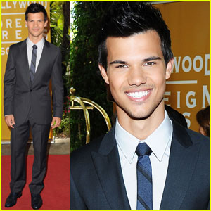 Taylor Lautner: HFPA Luncheon!