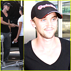 Tom Felton: Airport Handshake Hunk!