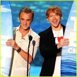 Tom Felton & Rupert Grint: Teen Choice Award Winners!