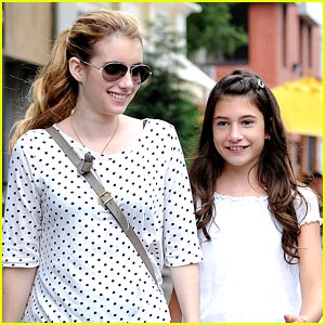 Emma Roberts Strolls with Sister Grace