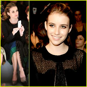 Emma Roberts: Jill Stuart Front Row!