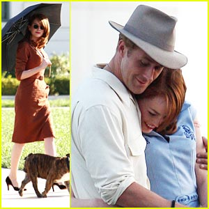 Emma Stone Goes 'Gangster' at the Griffith Observatory