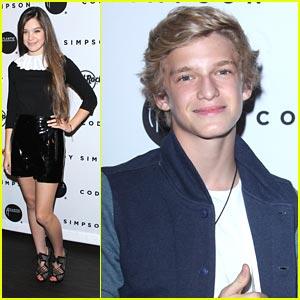 Hailee Steinfeld: Cody Simpson Release Party!