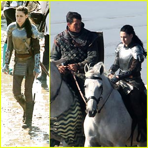 Kristen Stewart: 'Snow White &#038; The Huntsman' Set Pics
