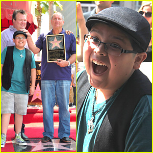 Rico Rodriguez: Hollywood Star of Fame Happy!