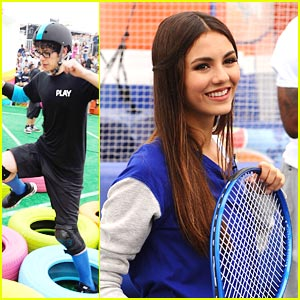 Victoria Justice: Obstacle Course in DC with Matt Bennett