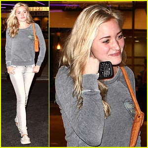 AJ Michalka Goes To The Movies