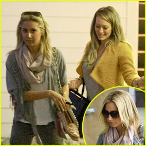 Ashley Tisdale: Nail Salon with Hilary Duff!