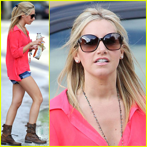 Ashley Tisdale Meets Scott Speer in Miami!
