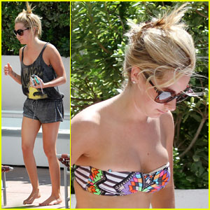 Ashley Tisdale Soaks Up the Sun