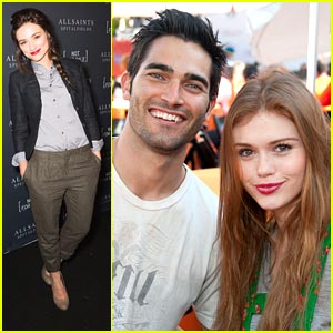 Crystal Reed & Holland Roden: AllSaints Tee Launch Party