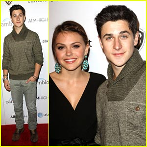 David Henrie: 'Aim High' Party Person