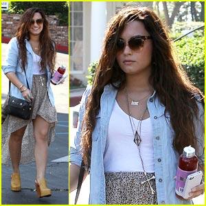 Demi Lovato: BCBG Bridesmaid Fitting