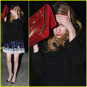 Emma Roberts Hides From Halloween Emma Roberts Just Jared Jr