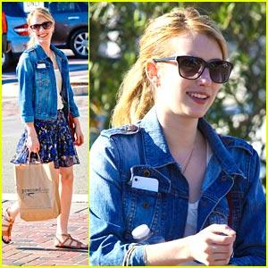 Emma Roberts: Pressed Juicery Gal