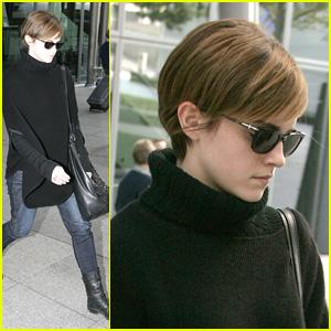 Emma Watson: London Airport Arrival